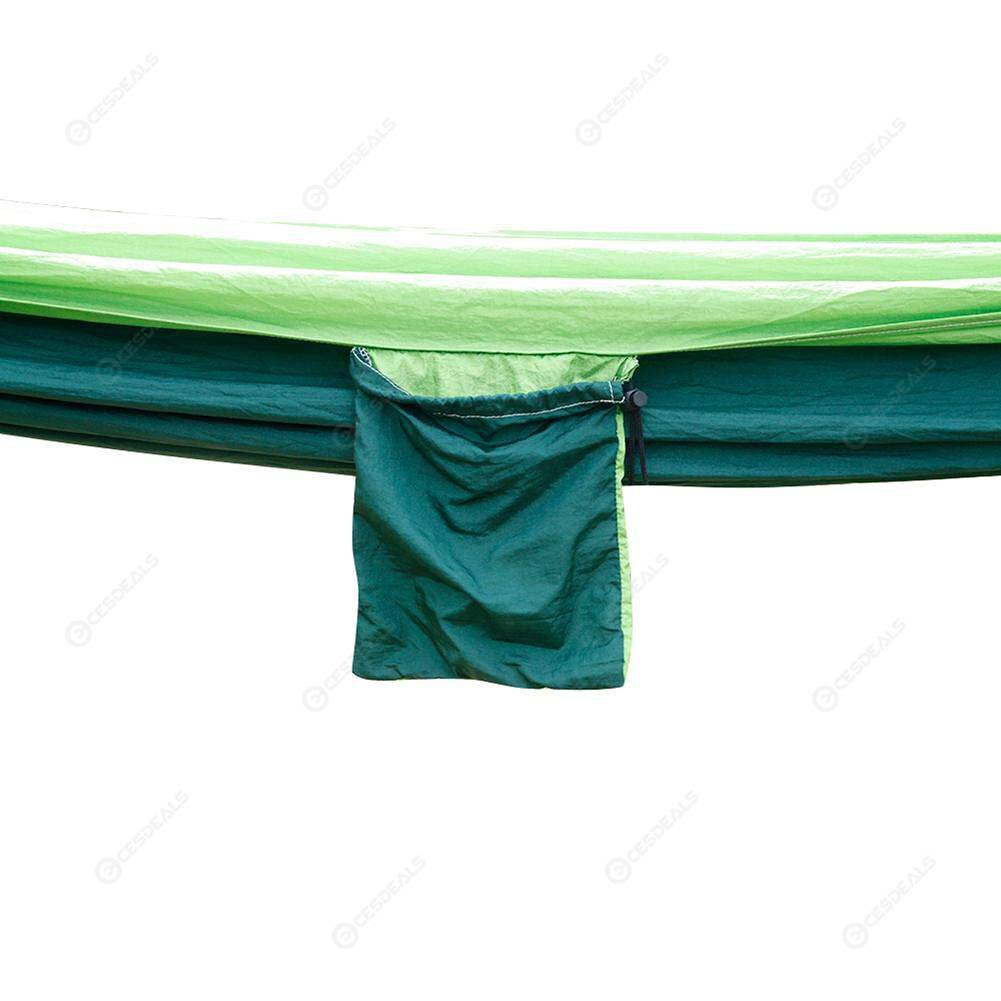 Nylon Parachute Fabric Double Hammock Candy Green Backyard Relax Supplies