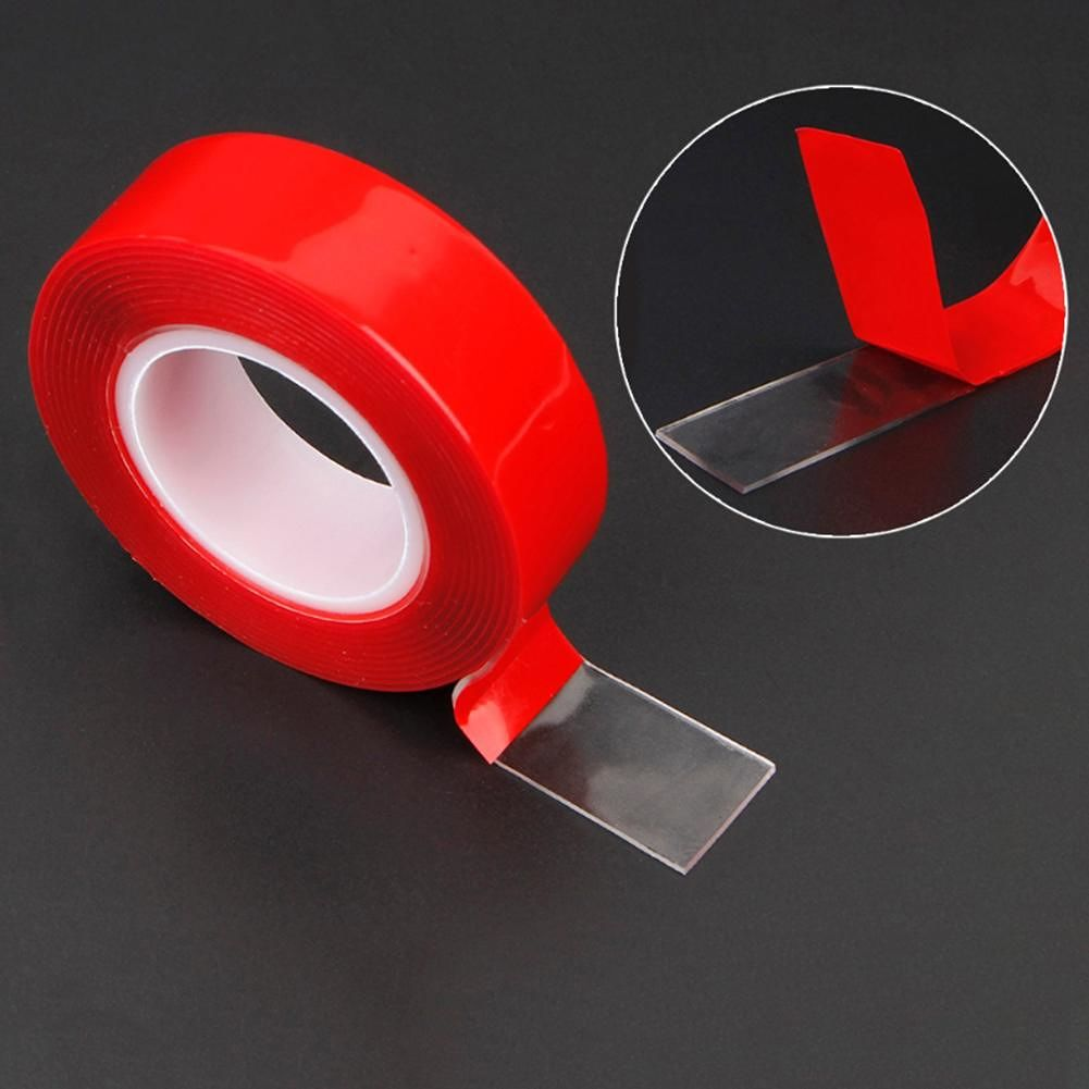 Double Sided Waterproof Transparent Adhesive Tapes Sticker (1mm*30mm*3m)