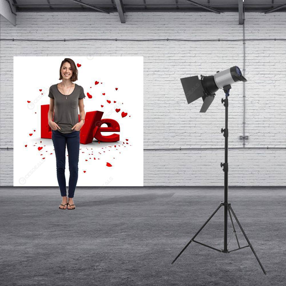 Love Theme Photography Background Cloth Backdrop Studio Decor (1.25x1.25m)