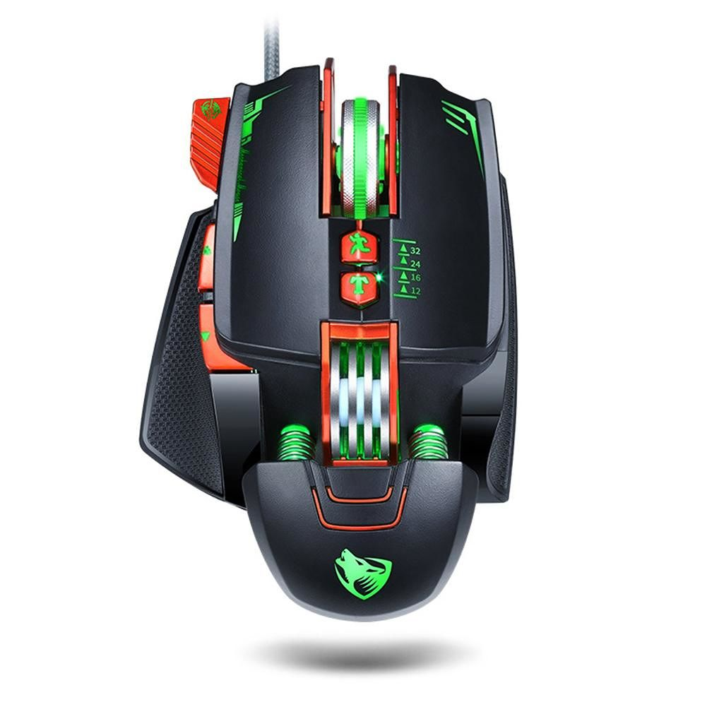 V9 3200 DPI RGB Backlight Macro Definition Gaming Mechanical Wired Mouse