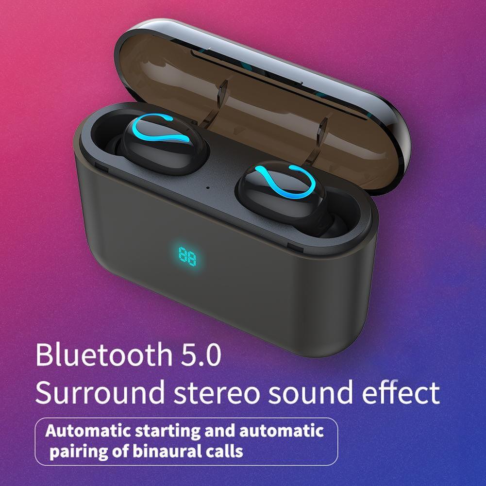 TWS Bluetooth Earphone Mini Wireless Earbuds Sport Handsfree Headset w/Mic