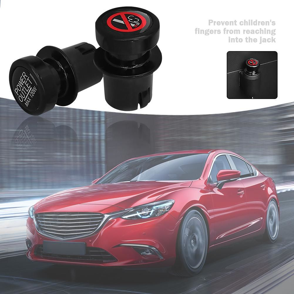2pcs Automobile Charger Power Adapter Plug Car Power Adapter Dust Cover