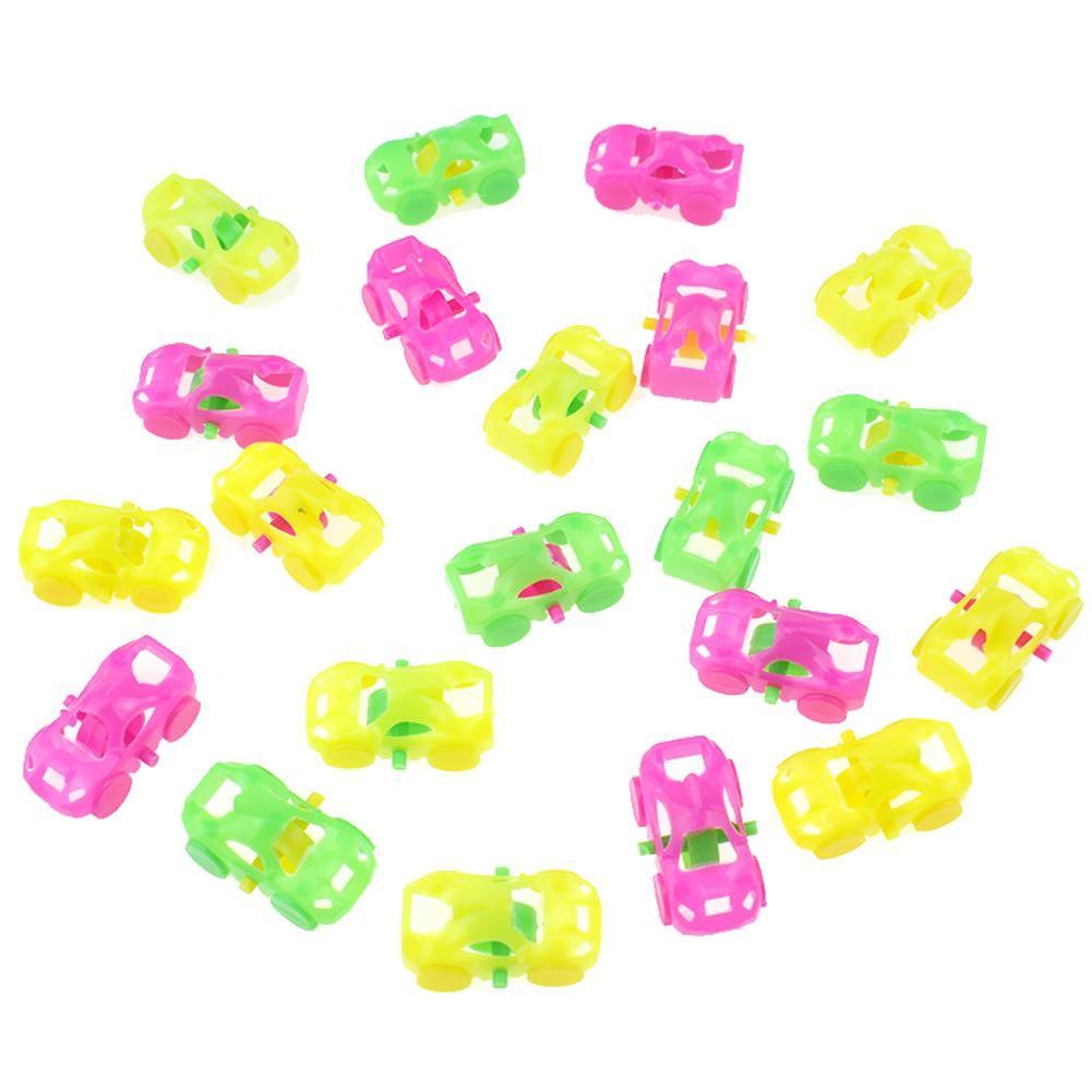 50pcs Mini DIY Cartoon Cars Model Plastic Toy Capsule Toys Children Gift