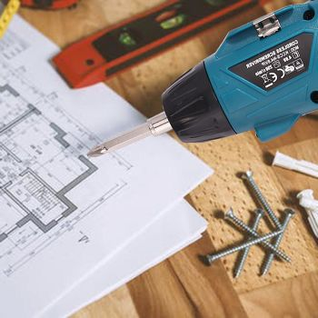 Mini Rechargeable <b>Cordless Electric Screwdriver Drill</b> Bit Set w/Lamp