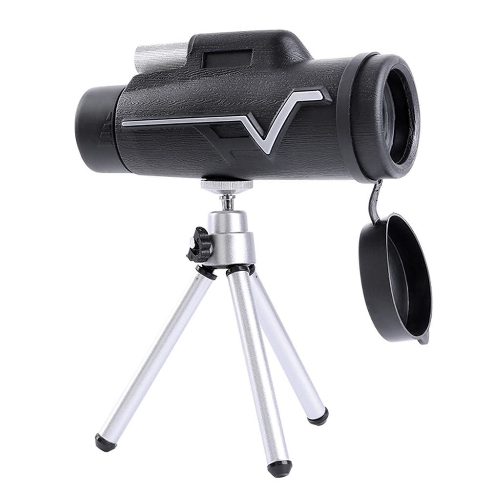 25x50 BAK4 HD Monocular Portable Professional Telescope w/Tripod Phone Clip