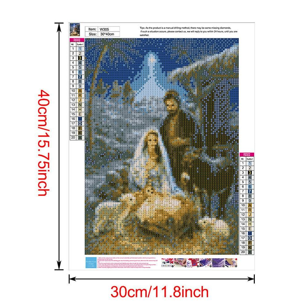 5D DIY Full Drill Diamond Painting Shepherd Cross Stitch Embroidery (W305)