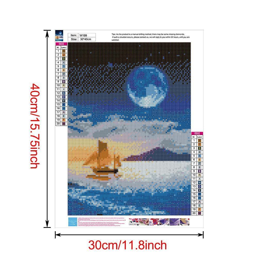 5D DIY Full Drill Diamond Painting Cross Stitch Embroidery Mosaic (W199)