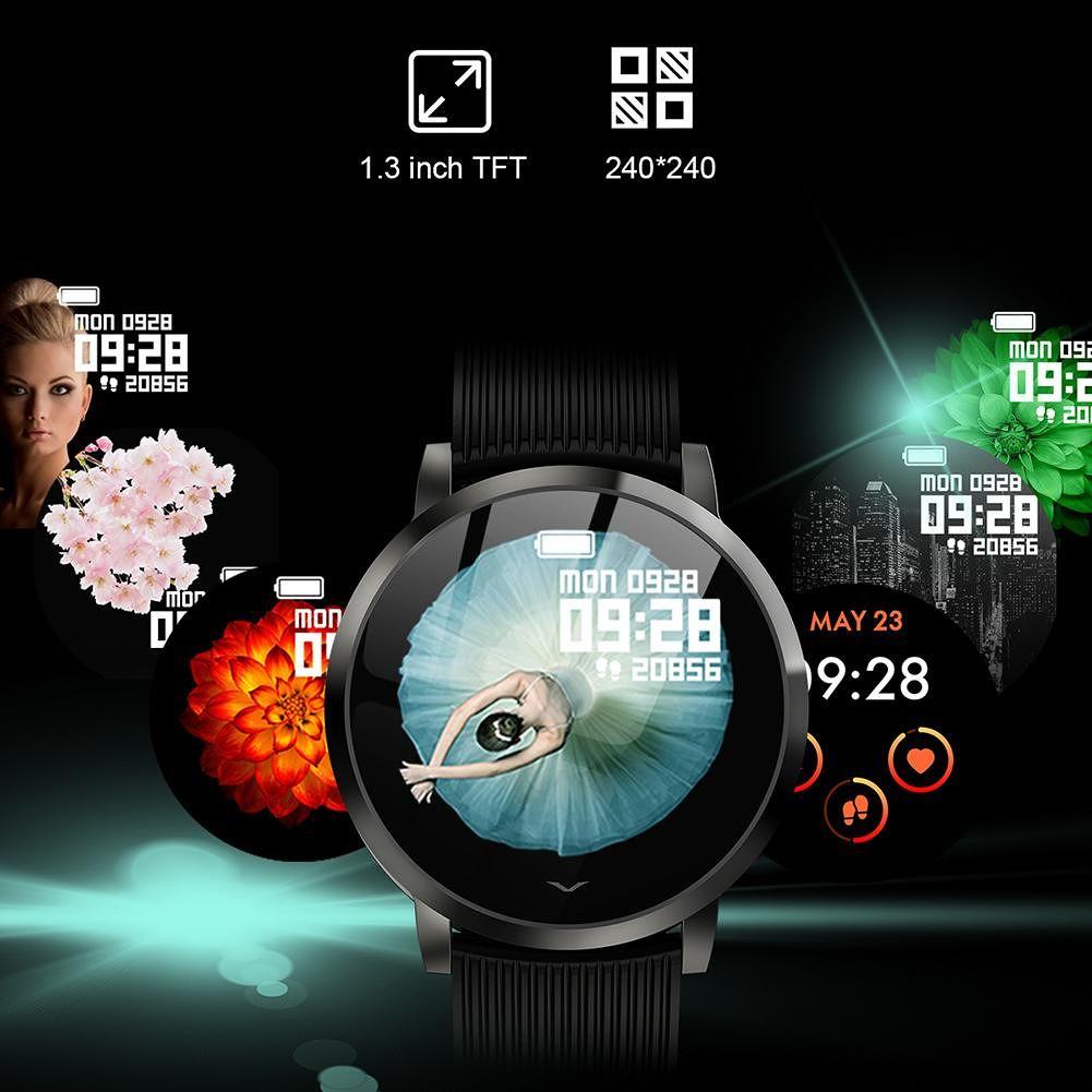 L9 Smart Band Heart Rate Blood Pressure IP67 Waterproof Wristband (Black)