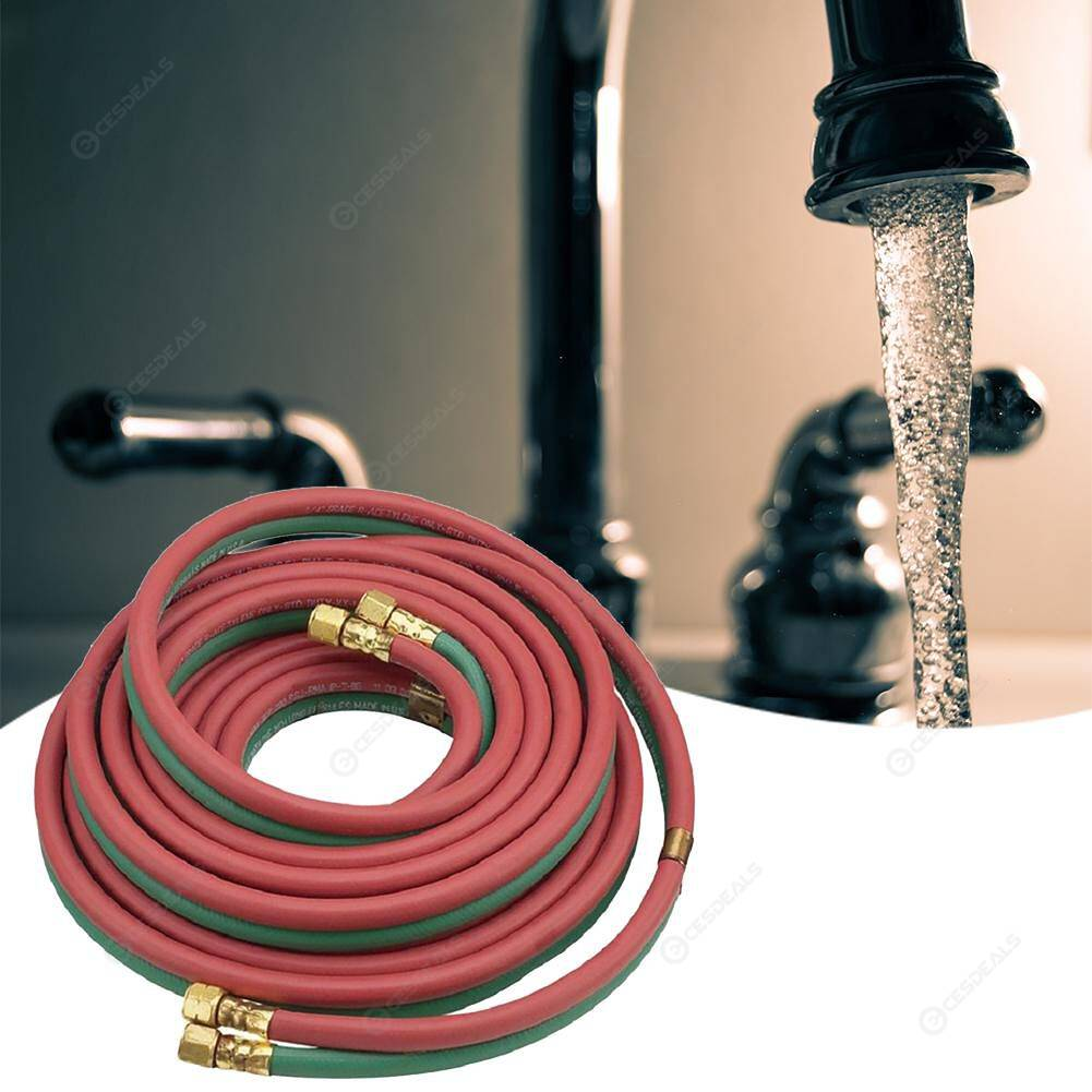Safety 50ft Oxy-acetylene Twin Welding Hose Red Green Home Installation