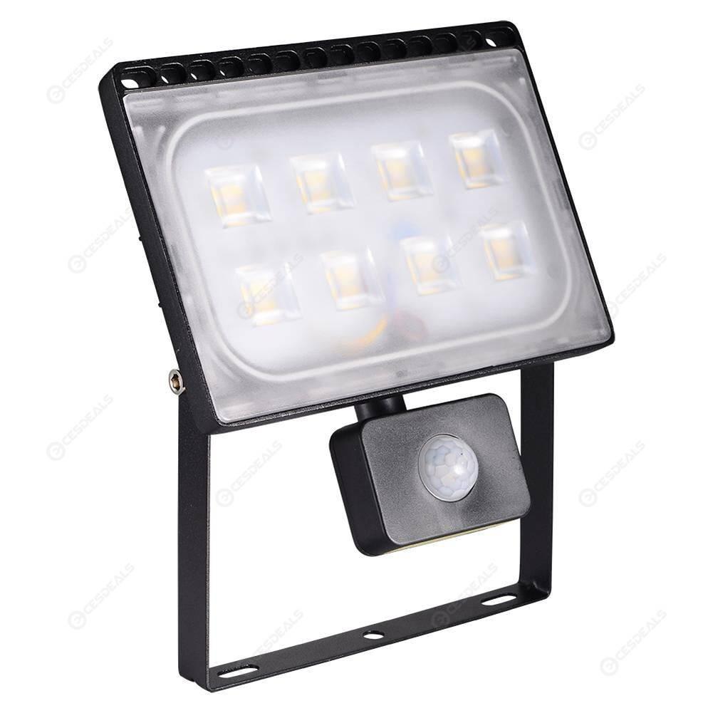 50W LED Flood Light Ultrathin with PIR Motion Sensor Garden Hall Decor Lamp