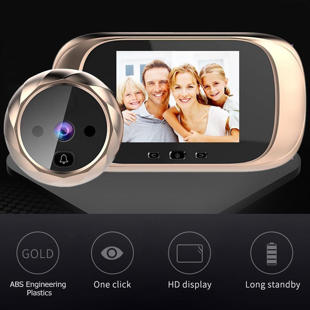 DD1 Infrared Motion Sensor Long Standby Night Vision Home Door Bell (Gold)