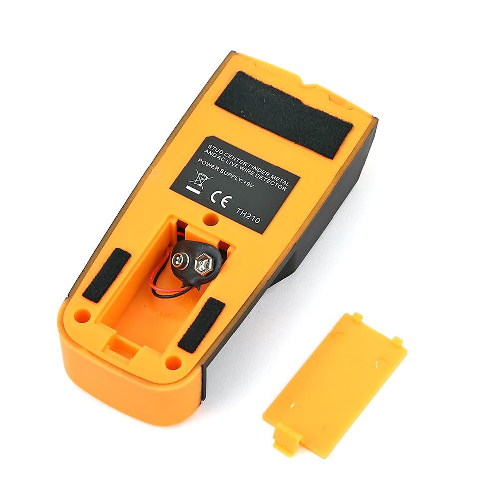 Metal Wood Studs Detector AC Voltage Live Wire Detect Wall Scanner (Yellow)