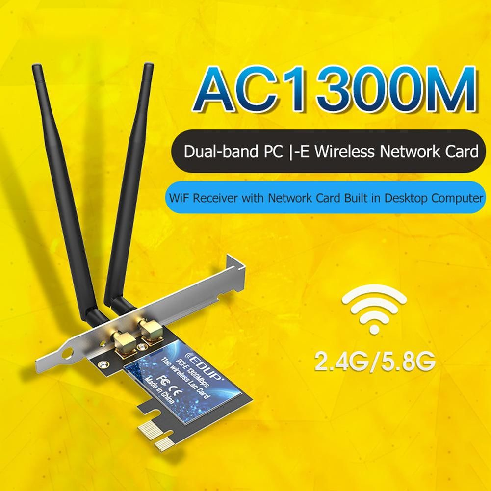EDUP EP-9608GS Dual Band WiFi Adapter Receiver 1300Mbps PCI-E Network Card