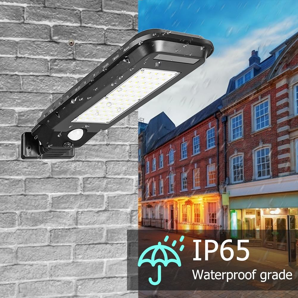 Outdoor Solar Street Light Waterproof Path Yard Motion Sensor Lamp (60LED)