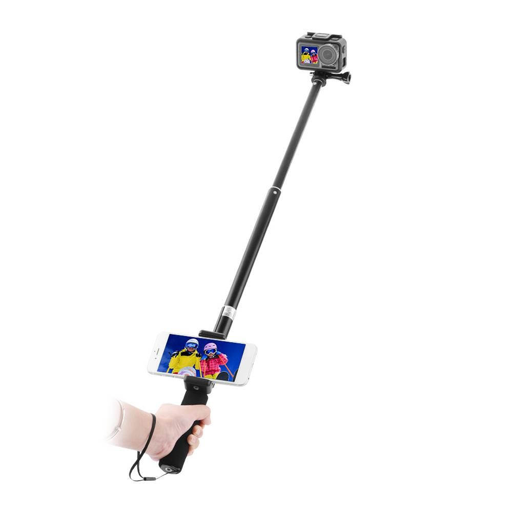Extension Selfie Stick Pole Rod for DJI OSMO Action Camera with Phone Clip