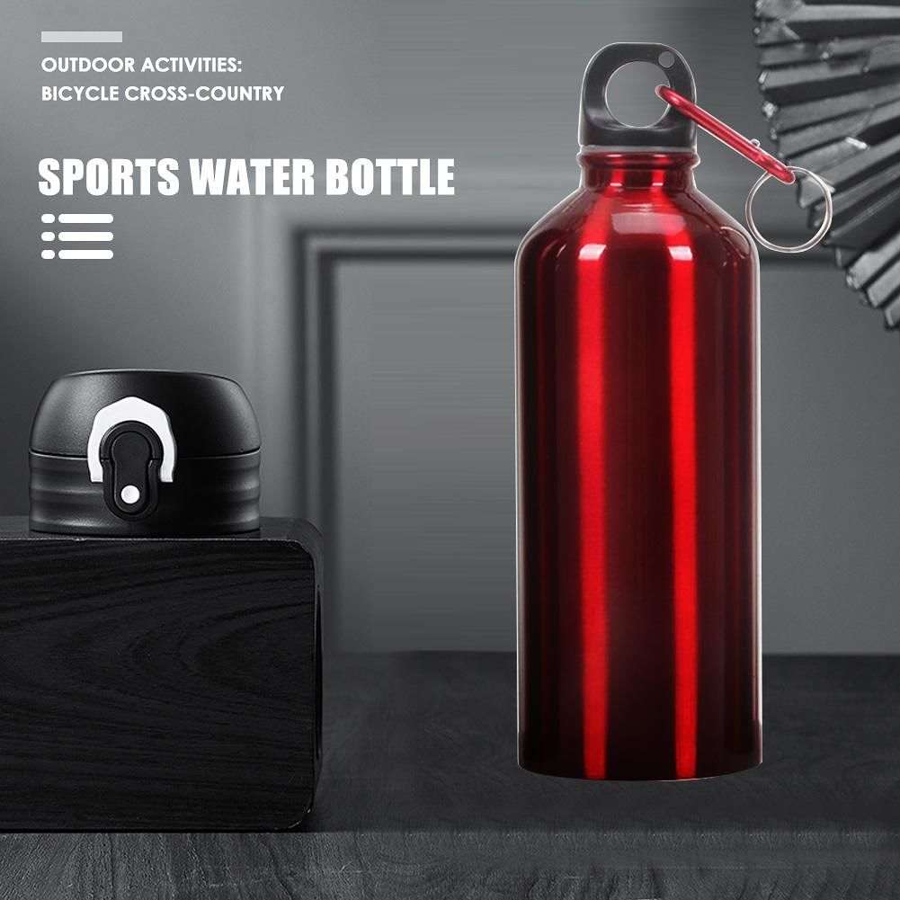700ml Aluminum Portable Outdoor Sports Water Bottle Drinking Kettle (Red)