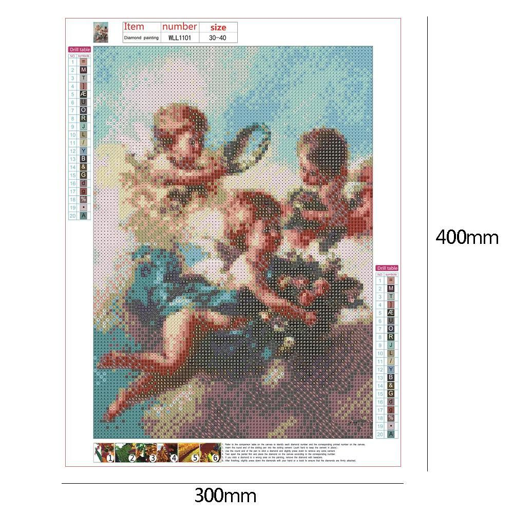 5D DIY Full Drill Diamond Painting Cross Stitch Embroidery Mosaic (Angel10)
