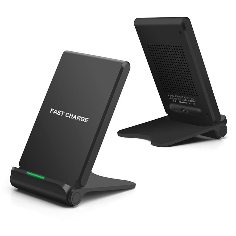 B202 10W Qi Wireless Charger Stand Desktop Phone Fast Charging Pad Holder
