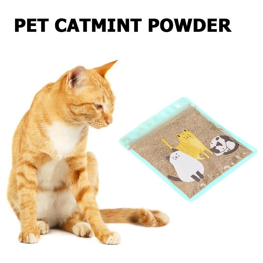 Catmint Powder Natural Menthol Flavor 20g Catnip Dry Cat Treats Funny Toys