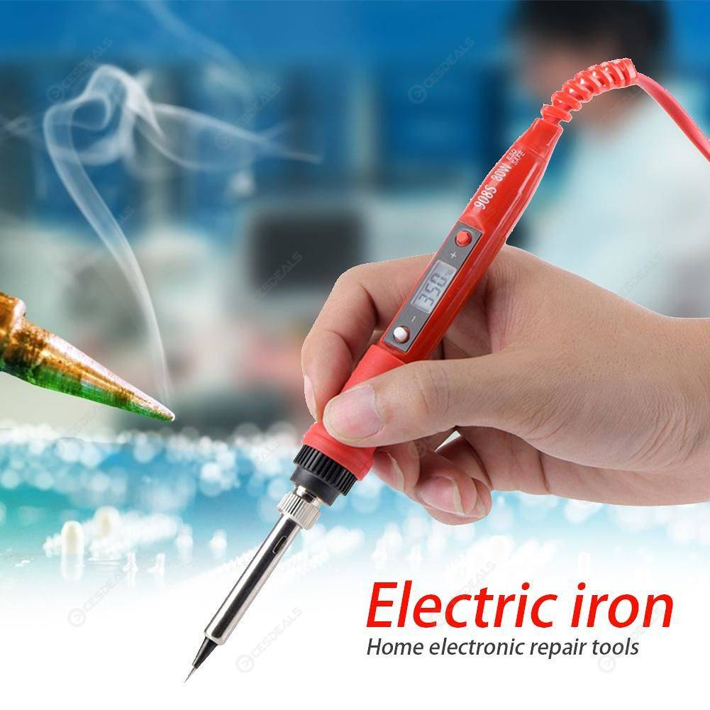 Digital Temperature Adjustable Electric Soldering Iron Tin Welding Pen (US)
