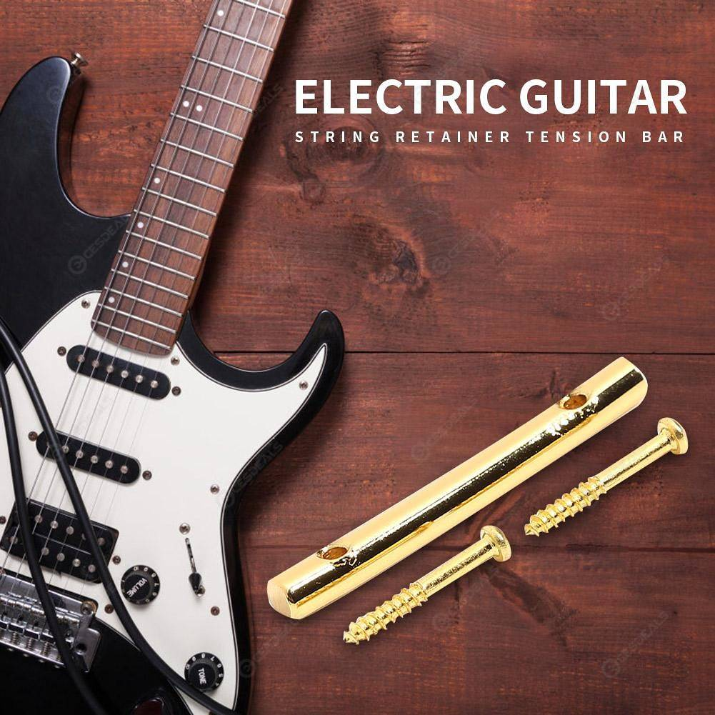 45mm iron electric guitar string retainer tension bar with screws gold us online. Black Bedroom Furniture Sets. Home Design Ideas
