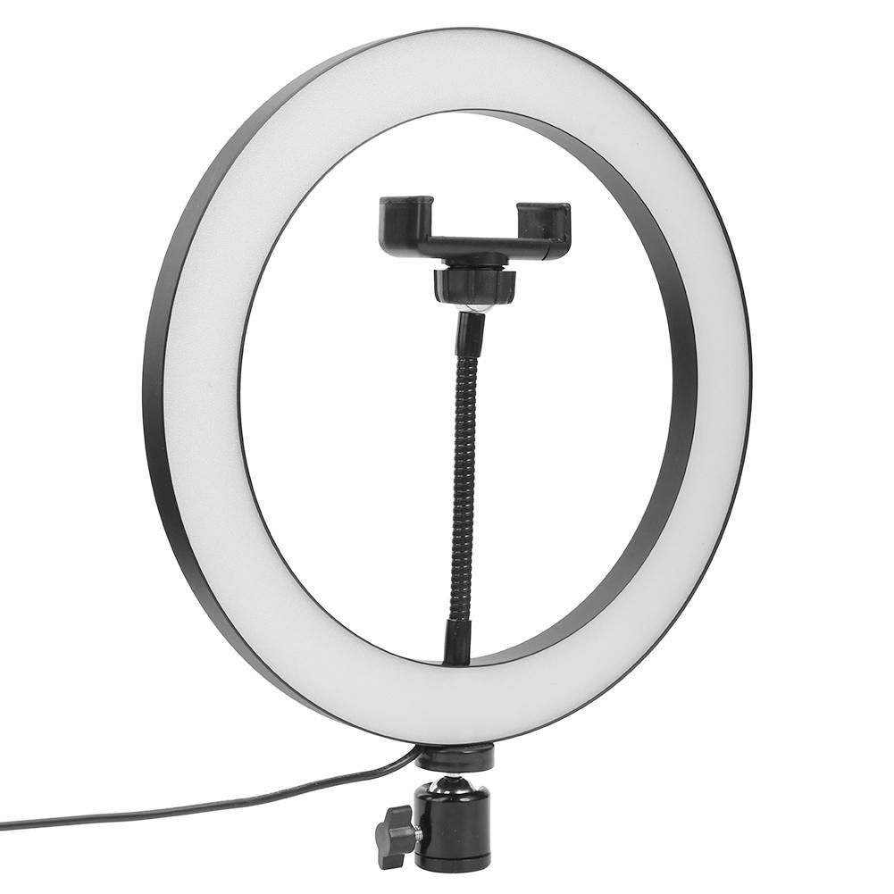 10 inch LED Ring Light Dimmable Beauty Adjustable 3 Lights Color Fill Light