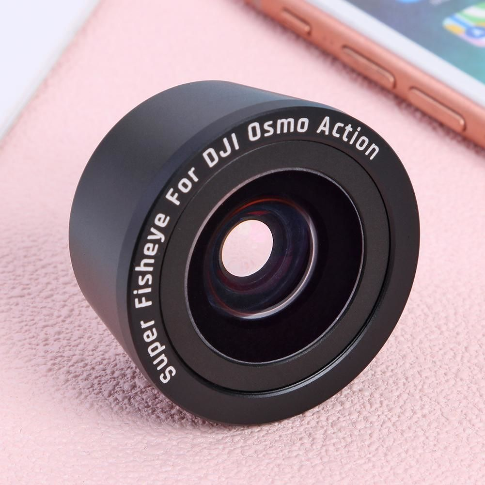 Optical Glass Anti-shake Portable Fisheye Lens for DJI OSMO Action Camera