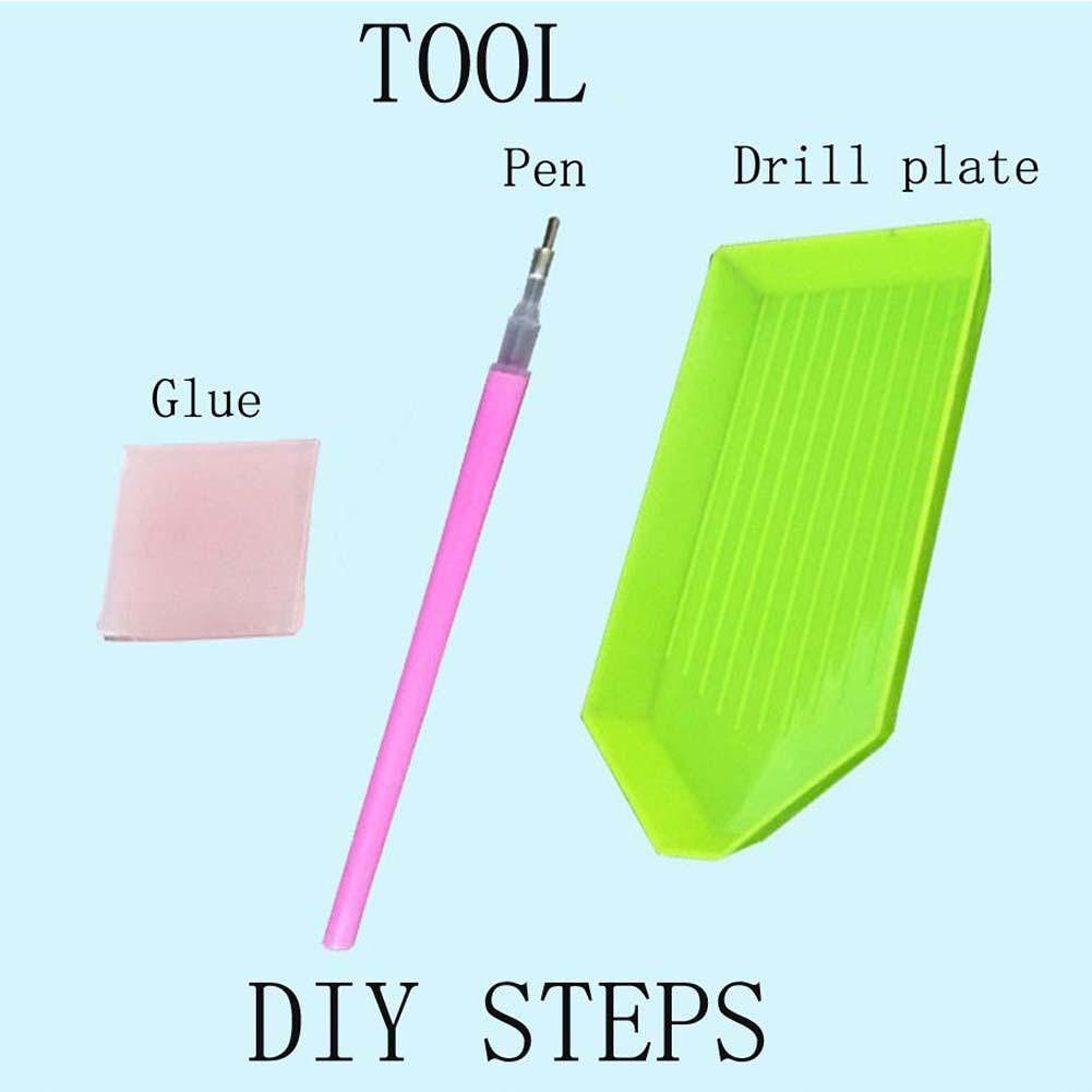 5D DIY Full Drill Diamond Painting Cross Stitch Embroidery Kit (Dog09)