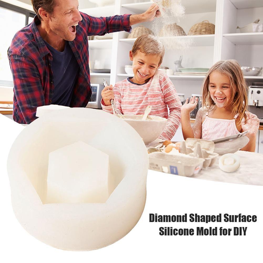 Geometric Silicone Flower Pot Mold DIY Fondant Cake Chocolate Baking Tools