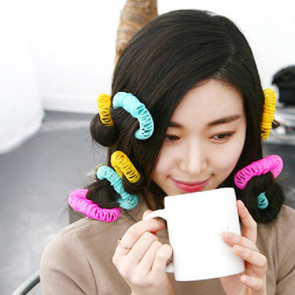 6pcs Hair Curler Spring Clip Rollers DIY Hairstyle Bangs Hair Styling Tool