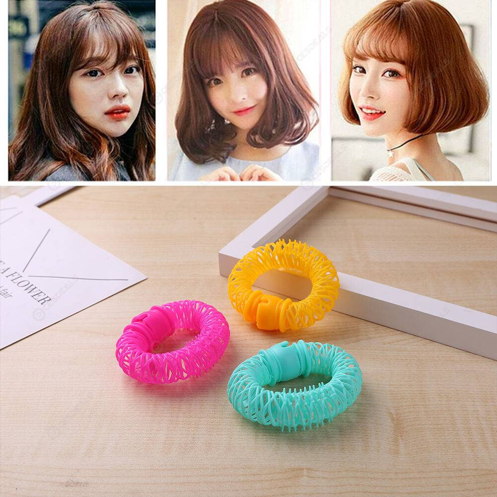 6pcs Hair Curler Spring Clip Rollers DIY Hairstyle Bangs Hair Styling Tool