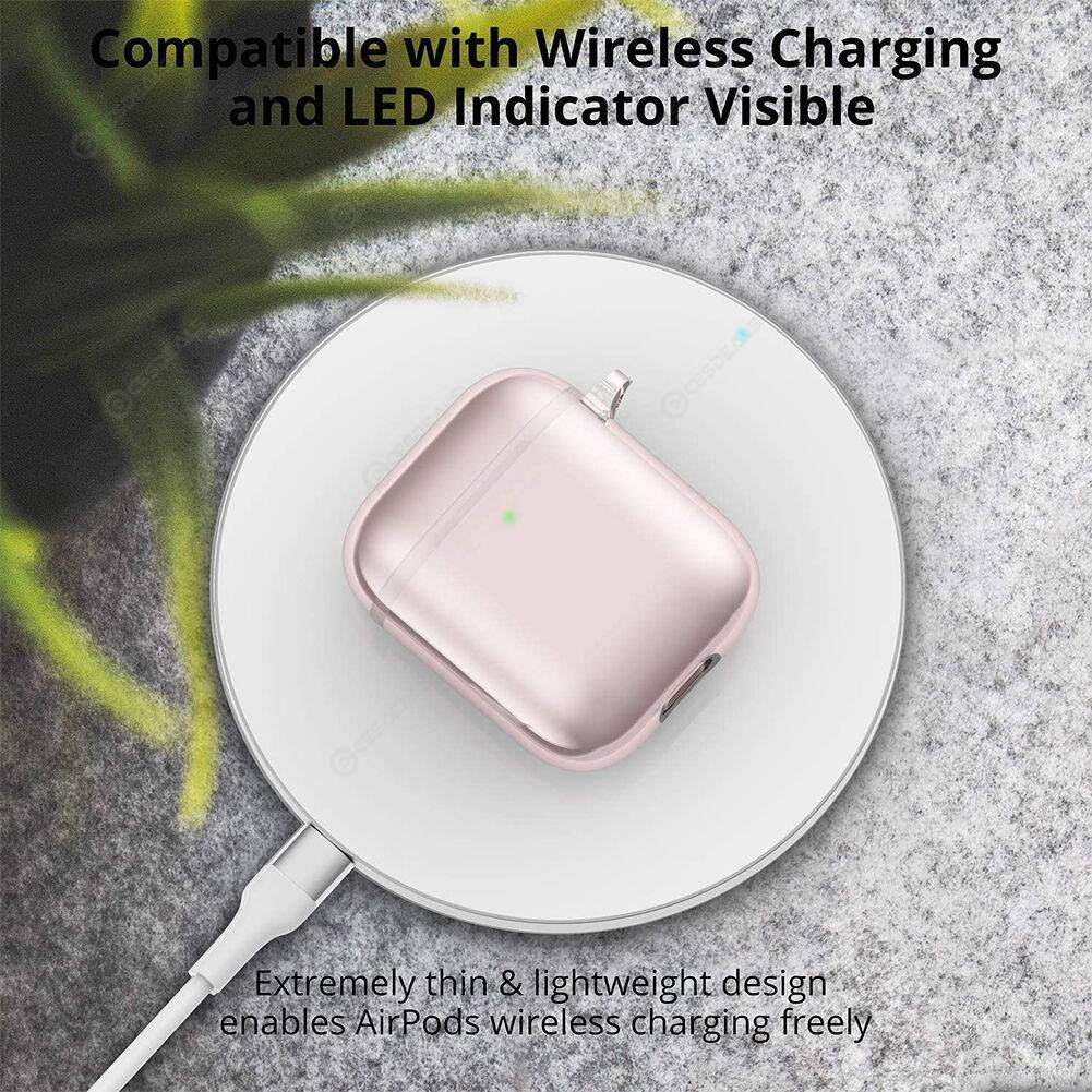 Silicone Bluetooth Earphone Cover for Apple AirPods 1 2 Charging Bin Guard
