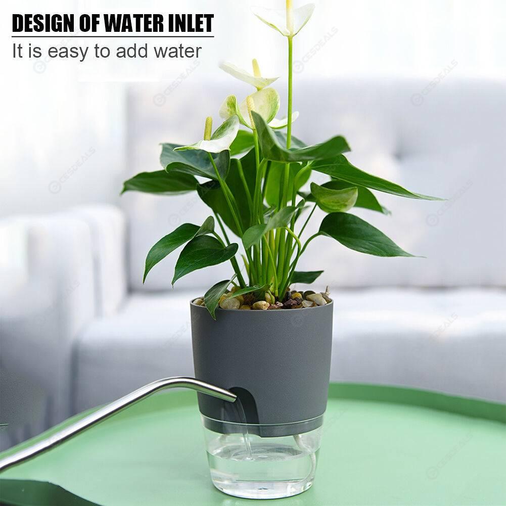 Watering Planter Self Watering Flower Pot Water Storage Basin (10.5cm)