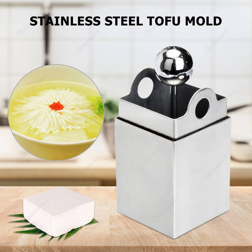 Square Grids Tofu Cutter Stainless Steel Tofu Mold Manual Slicer Shredder