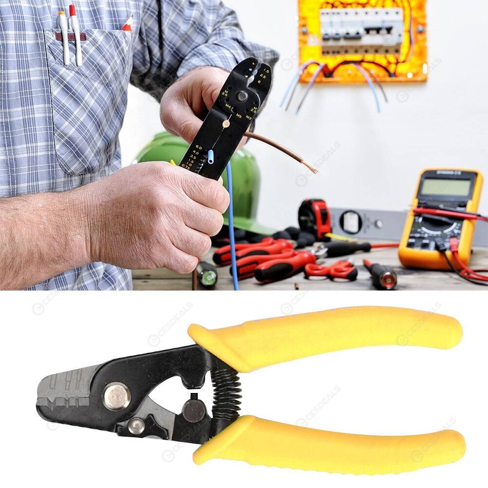 Portable Wire Stripper Decrustation Pliers Cable Stripping Shears Crimper