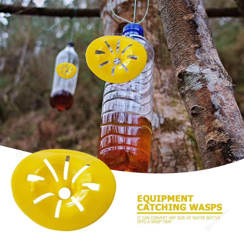 10pcs Reusable Garden Wasp Trap Bee Fly Catcher Plastic Bottle Hornet Traps