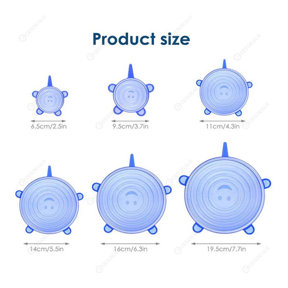 12pcs Reusable Silicone Fresh-keeping Cover Food Bowl Lid Sealing Covers