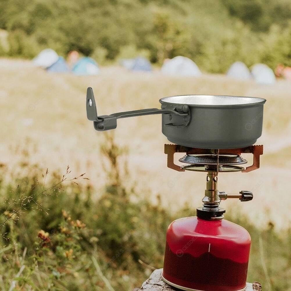 3pcs Outdoor Cutlery Bento Case Aluminum Alloy Picnic Camping Lunch Box
