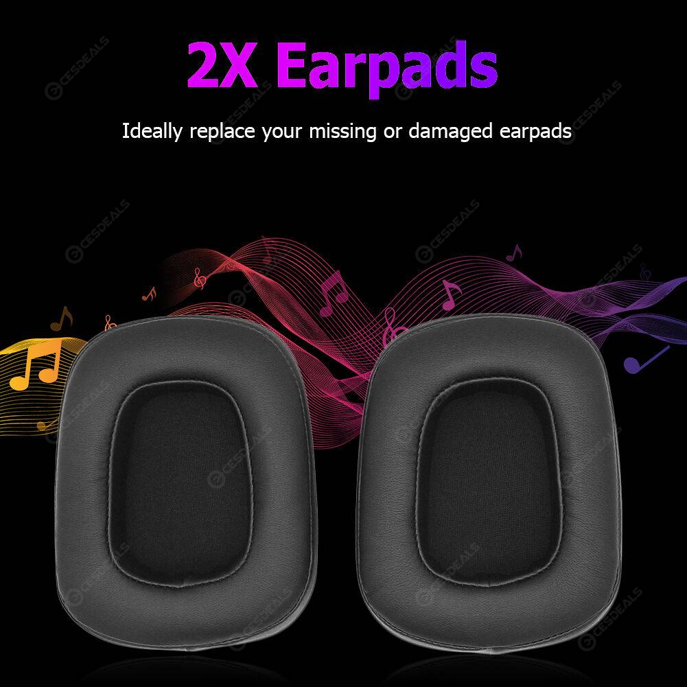 2x Foam Leather Game Headphone Replacement Ear Pads for Razer Tiamat 7.1 V2