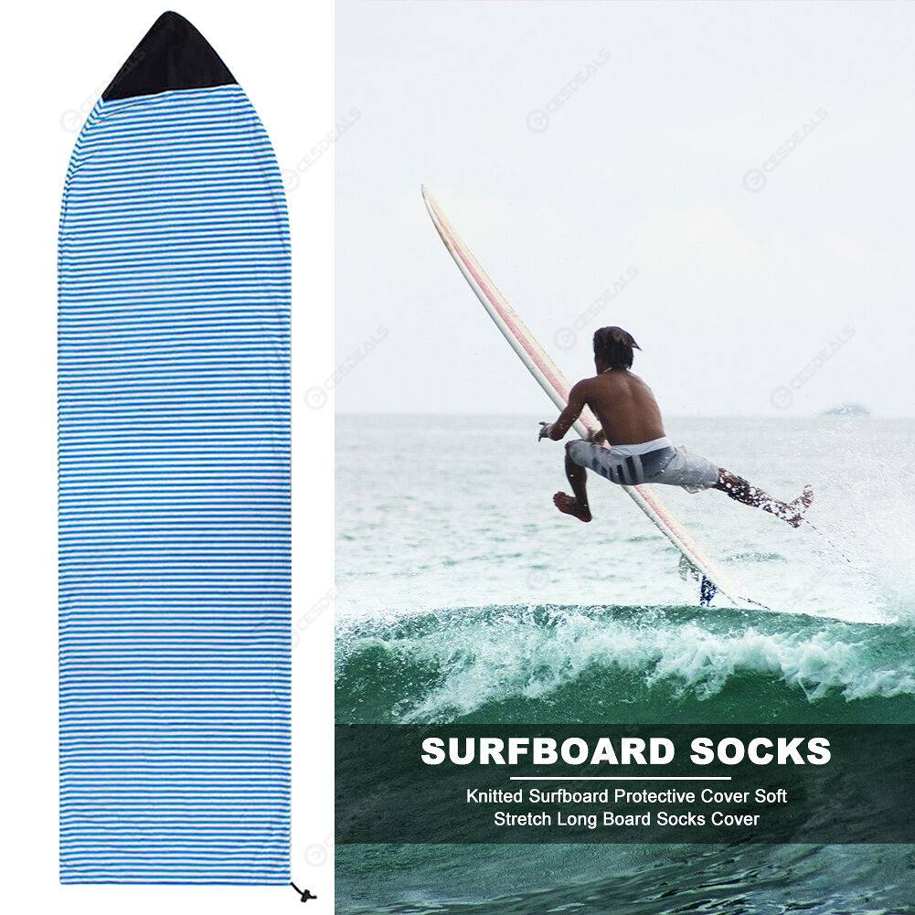 Knitted Surfboard Protective Cover Soft Long Board Sock Cover (Blue 230x50)