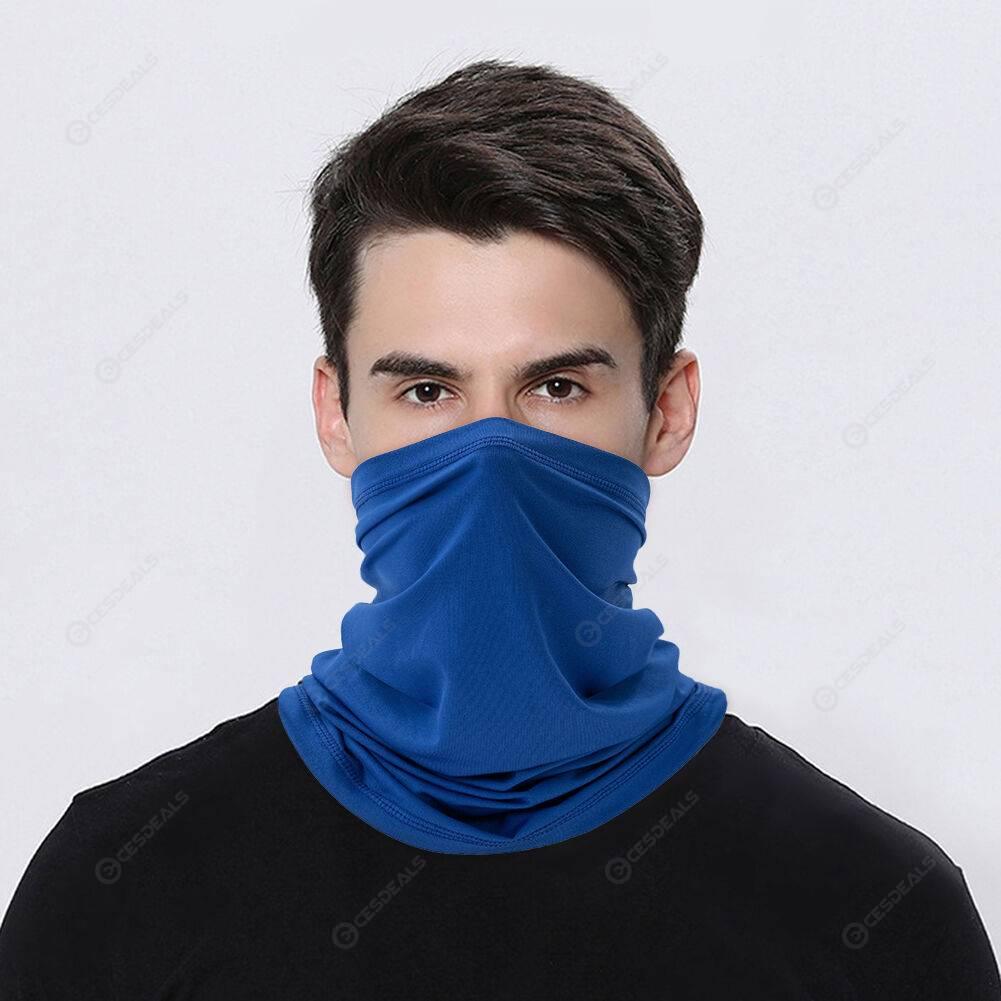 Ice Silk Outdoor UV Protection Elastic Neck Tube Face Mask (Royal Blue)