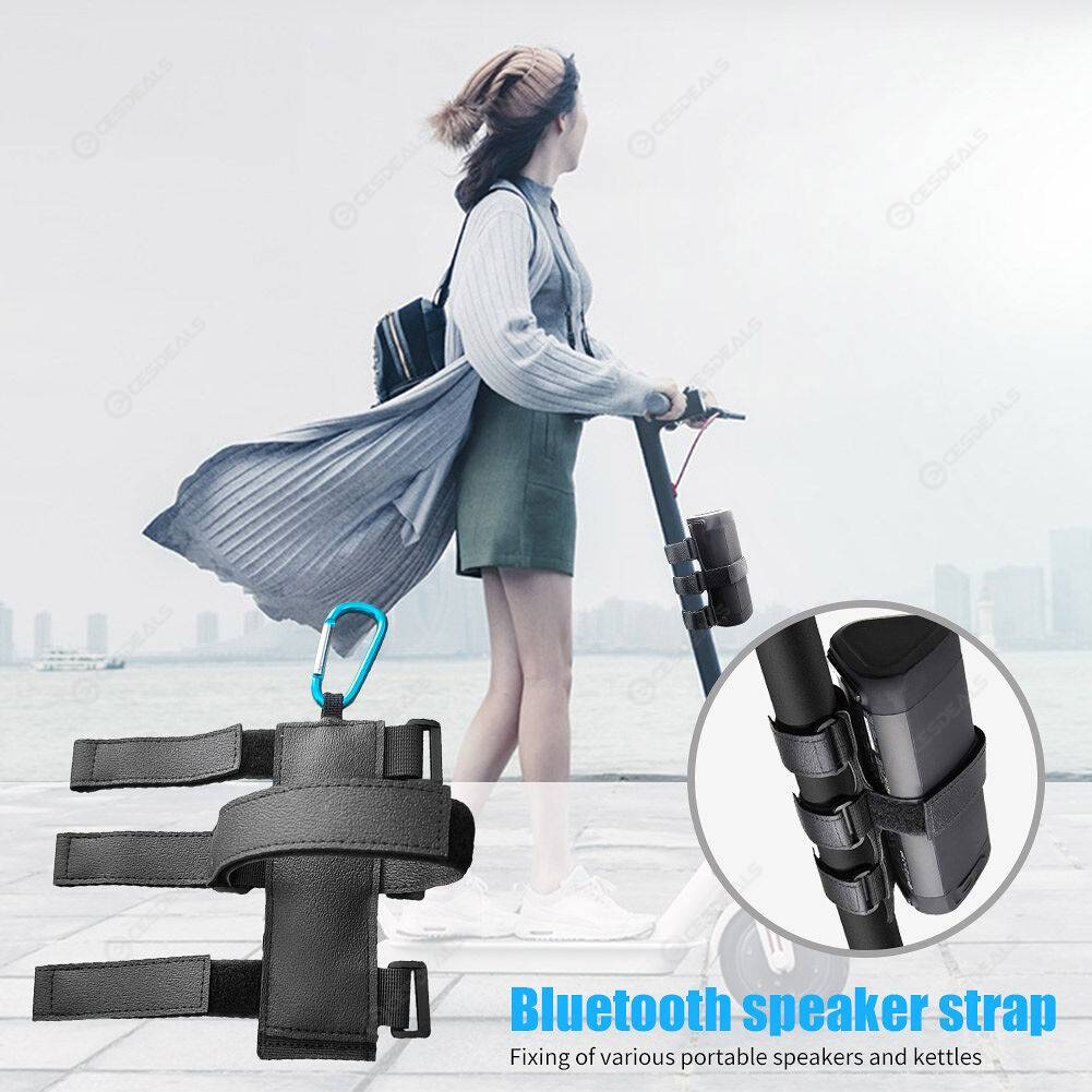 Adjustable Bicycle Speaker Bottle Fixing Mount Strap Golf Cart Accessories