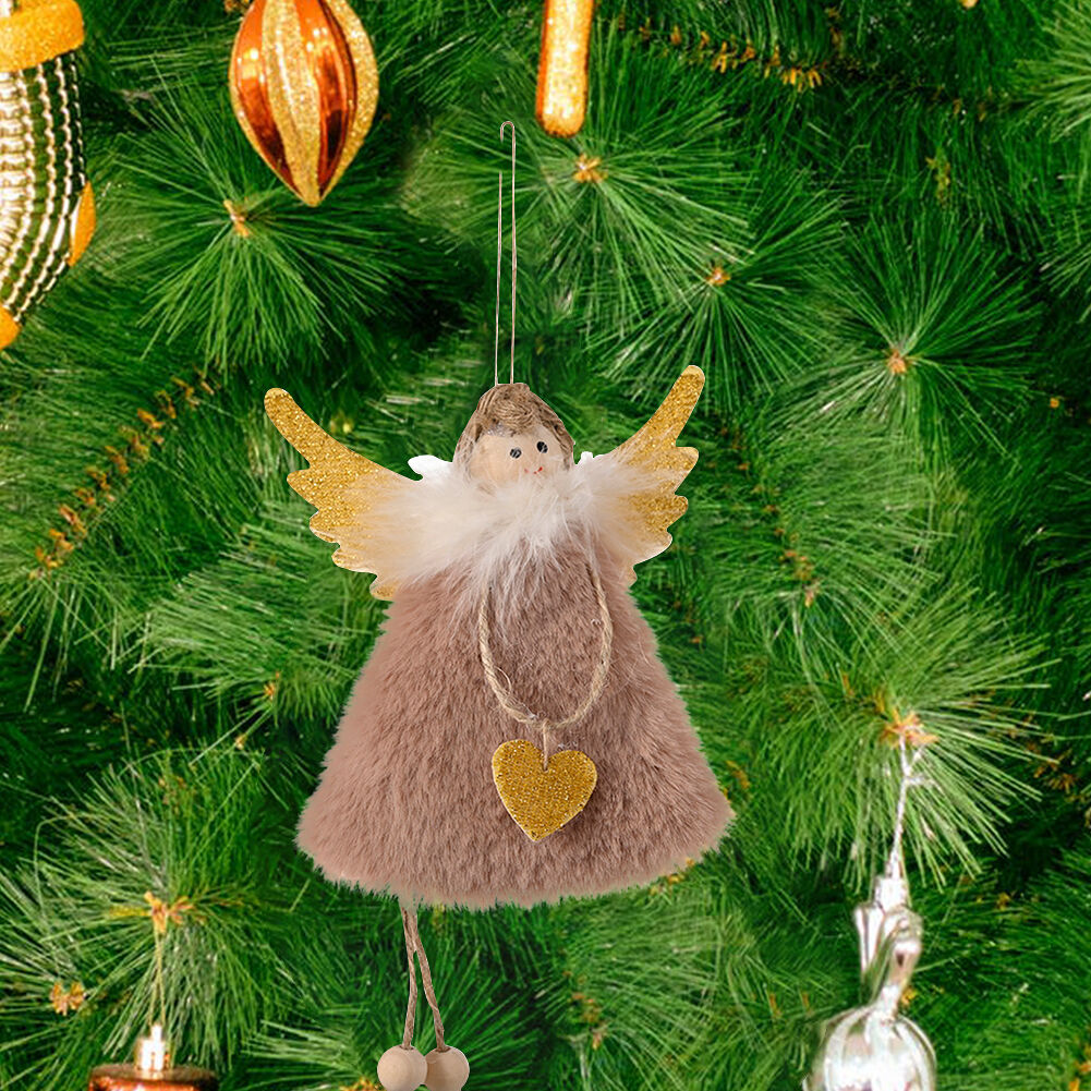 Angel Pendants Christmas Doll Tree Hanging Toys Home Decor Ornament (Khaki)