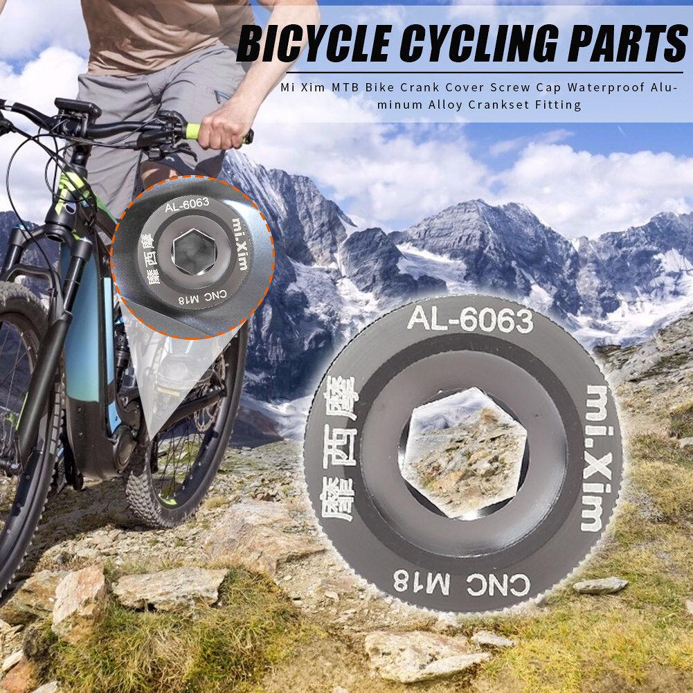 Mi Xim Bike Crank Cover Screw Cap Bicycle Crankset Fitting (Silver Ti)(M18)