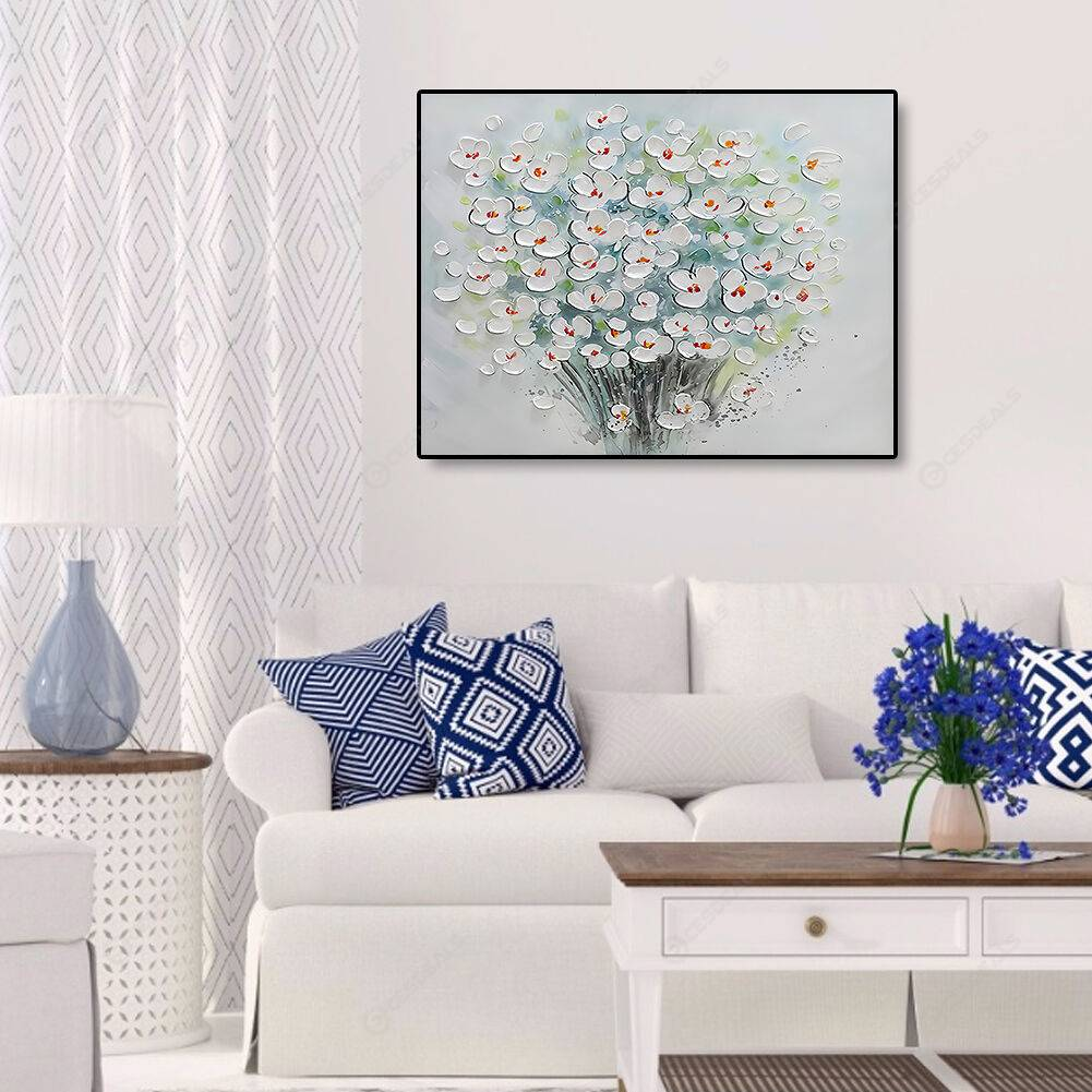 Flower Frameless Decorative Painting Canvas Poster Hanging Art Wall Sticker