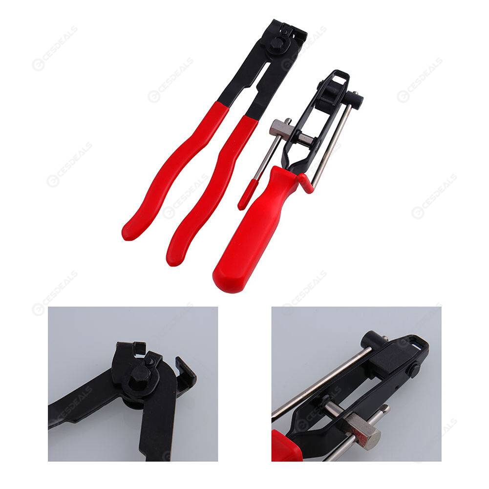 2pcs/set Auto CV Joint Clamp Banding Tool Ear Type Boot Clamp Pliers Kit