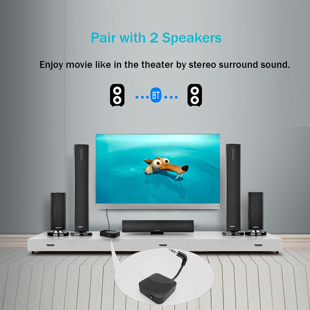 In Flight Bluetooth 4.1 Audio Transmitter 3.5mm Jack for Airplane Car TV