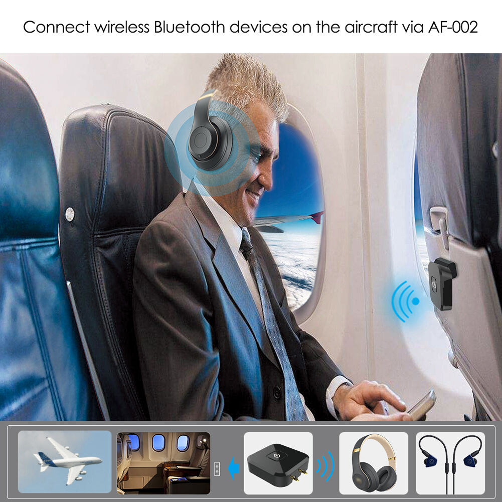 In Flight Bluetooth 4.1 Audio Transmitter for Airplane Car Headphones TV