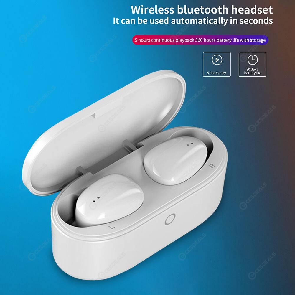 C2 TWS Bluetooth Mini Earphones IPX4 Sport Touch Wireless Earbuds (White)