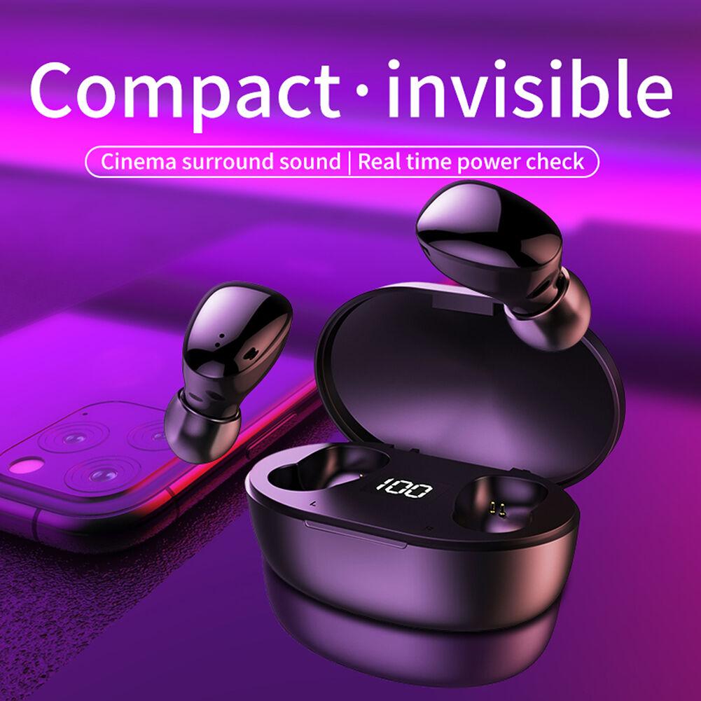 C4 IPX4 TWS Bluetooth Earphones Fingerprint Touch Wireless Earbuds (Black)